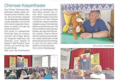 Kasperl - Mucki und das lustige Allerlei - hier dürfen die Freunde große Garten-Party für die Prinzessin im Schloss-Park organisieren.